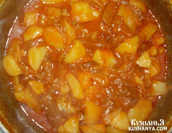 Фото Овощное рагу с баклажанами