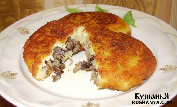 Фото Зразы картофельные с грибами