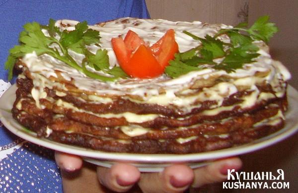 Фото Печеночный тортик