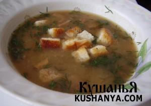 Суп грибной с картофелем фото
