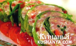 Салат зеленый с ветчиной фото