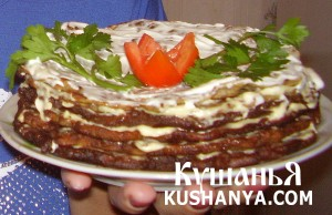 Печеночный тортик фото