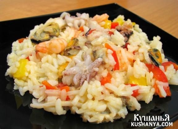 Фото Морепродукты с рисом