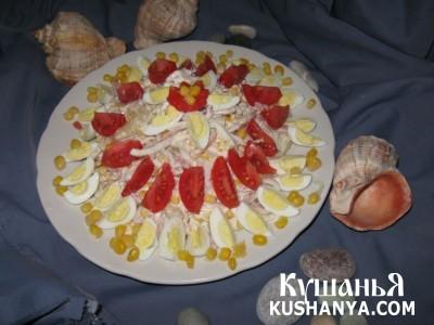 Фото Салат с кальмарами