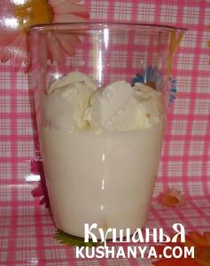 Коктейль молочно-банановый