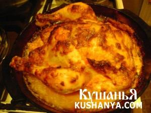 Курица запеченная в духовке с соусом фото