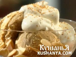 Мороженное с миндалем фото