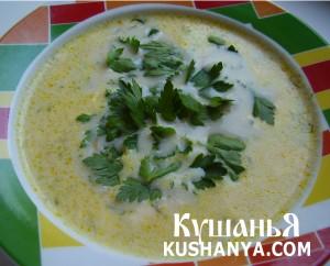 Суп из плавленных сырков (сырный) фото
