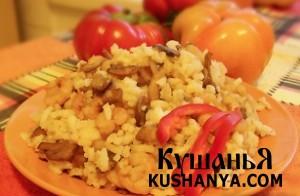 Рис с креветками и грибами фото