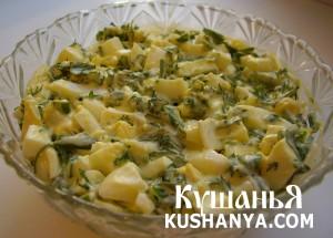Салат из яиц с зеленью фото