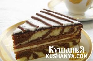 Торт «Зебра» фото