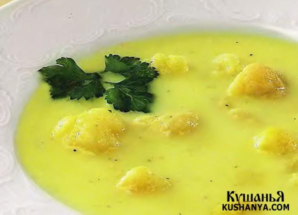 Фото Суп из цветной капусты (в микроволновке)