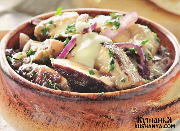 Кулинарный рецепт - Грибная закуска в греческом стиле.