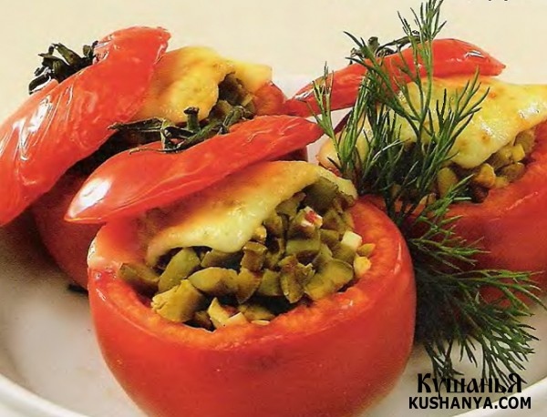 Фото Фаршированные помидоры (в микроволновке)