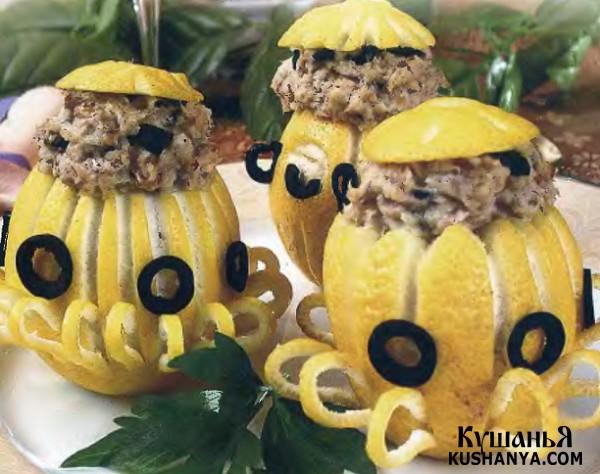 Фото Фаршированные лимоны