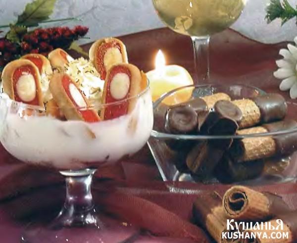 Фото Шарлотка с абрикосами и печеньем