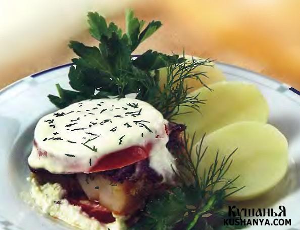 Фото Филе трески с помидорами