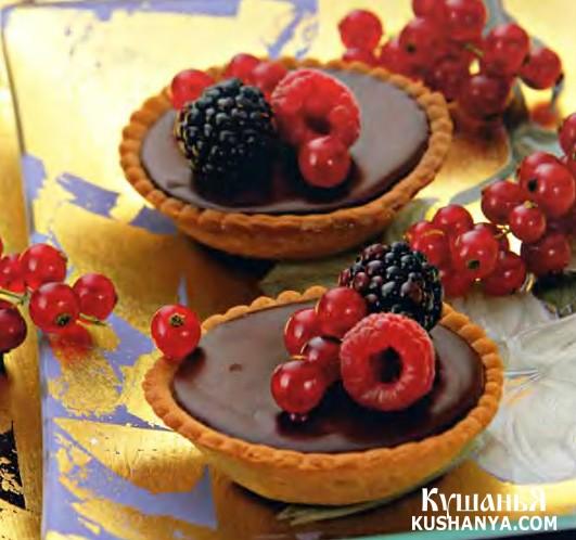Фото Тарталетки с ягодами и винным ганашем