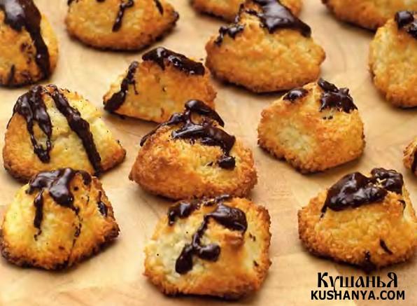 Фото Кокосовое печенье с шоколадом
