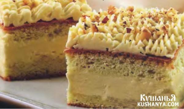 Фото Пирожные бисквитные с орехами