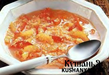 Фото Суп  с помидорами и сладким перцем по-тоскански