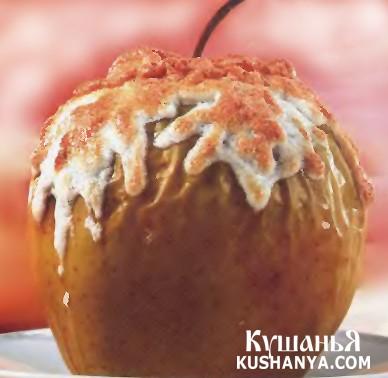 Фото Яблоки под белковым кремом