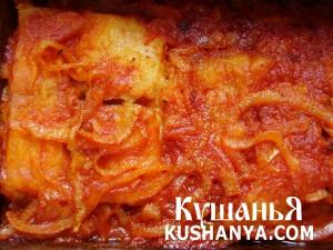 Филе пангасиуса с томатной подливой