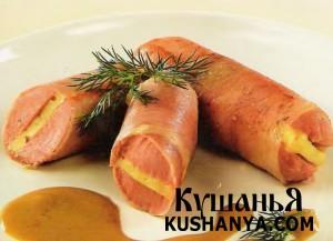 Сосиски, фаршированные сыром (в микроволновке) фото