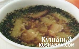 Суп картофельный с грибами фото
