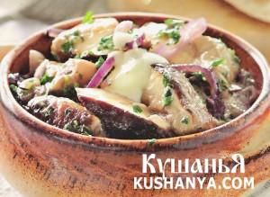 Фото Грибная закуска в греческом стиле