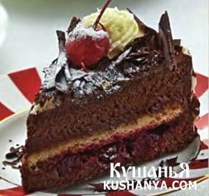 Торт «Черный лес» фото