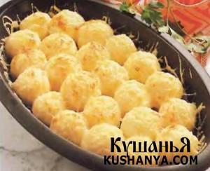 Картофельные кнедлики под мясным соусом по-римски фото