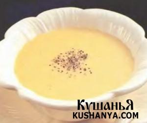 Суп-крем с миндалем фото