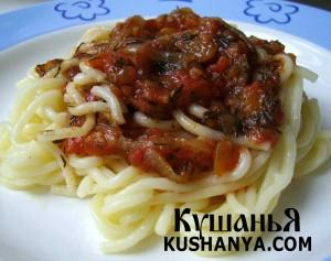 Томатный соус к спагетти с чесноком фото