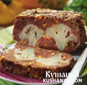 Мясная запеканка с цветной капустой фото