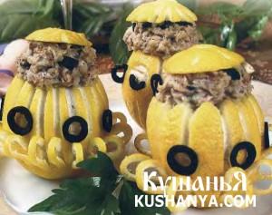 Фаршированные лимоны фото