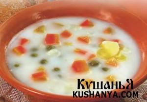 Фото Суп молочный с овощами