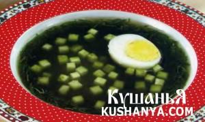 Холодный суп из щавеля фото