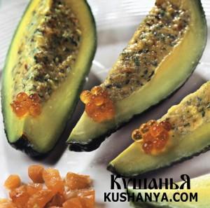 Мусс из лосося в авокадо фото