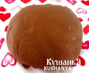 Фото Шоколадное песочно-ореховое тесто