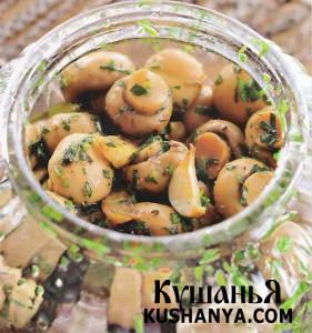 Шампиньоны в масляно-травяном маринаде фото