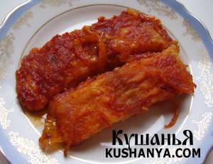 Фото Филе пангасиуса с томатной подливой