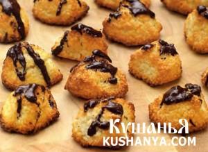 Кокосовое печенье с шоколадом фото