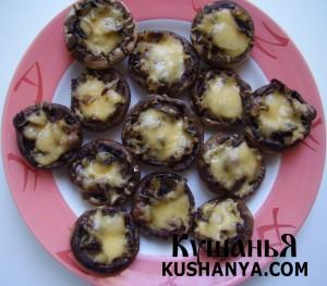 Грибы, фаршированные грибами с сыром фото