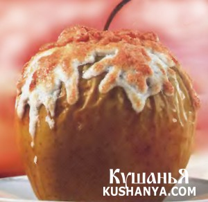 Яблоки под белковым кремом фото