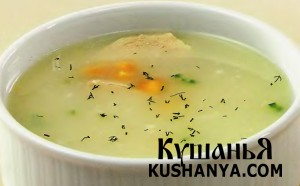 Фото Суп куриный с кукурузой (в микроволновке)