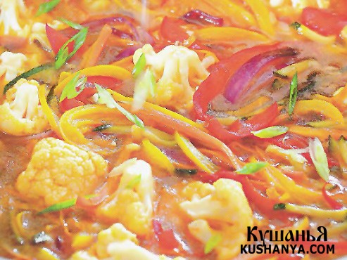 Фото Овощи в кисло-сладком имбирном соусе