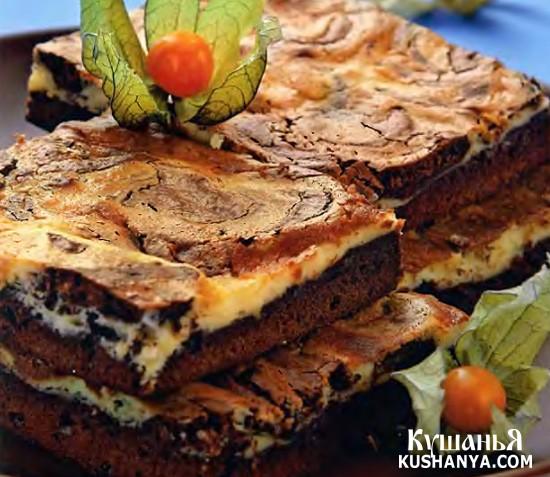 Фото Шоколадный пирог - мраморный