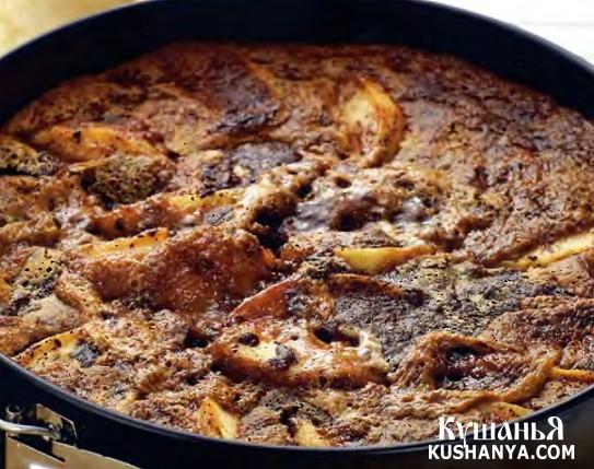 Фото Яблочный пирог с шоколадом