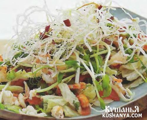 Фото Вьетнамский крабовый салат с жареной вермишелью